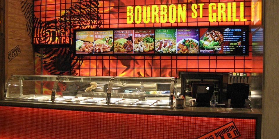 Bourbon St Grill - Digital Menu Board Video Wall - Rideau, Ottawa
